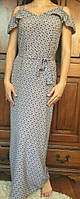 Длинное молодежное платье, французская вискоза, S-M р-ры, 340/310 (цена за 1 шт. + 30 гр.)