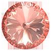Пришивные риволи в цапах Preciosa (Чехия) 14 мм Crystal Apricot/серебро