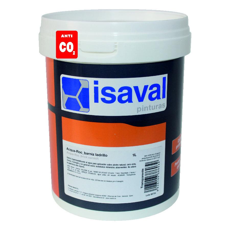 Лак для каменю на водній основі Аква-Рок 1л ISAVAL фасадний гідроізоляційний прозорий