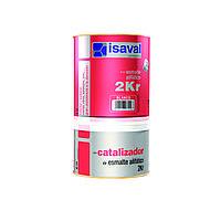 Полиуретановая универсальная эмаль ISAVAL 2КР 4 л - для металла, бетона и камня