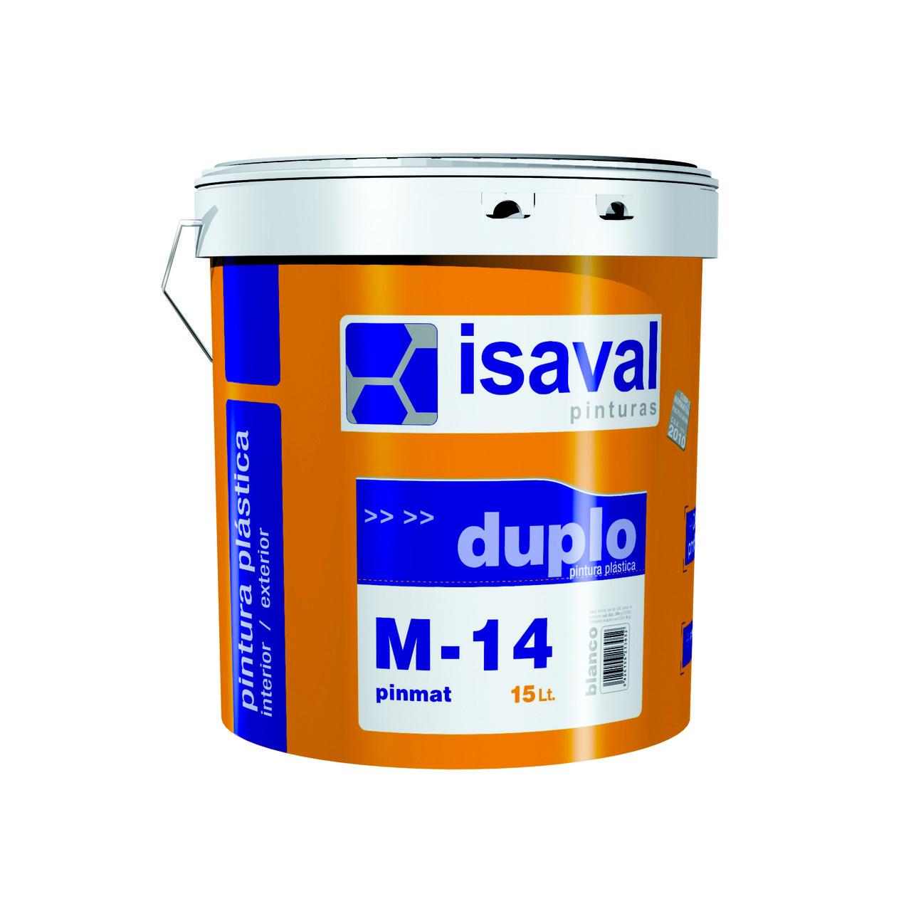 Інтер'єрна фарба Isaval М-14 ПИНМАТ 15 л білий