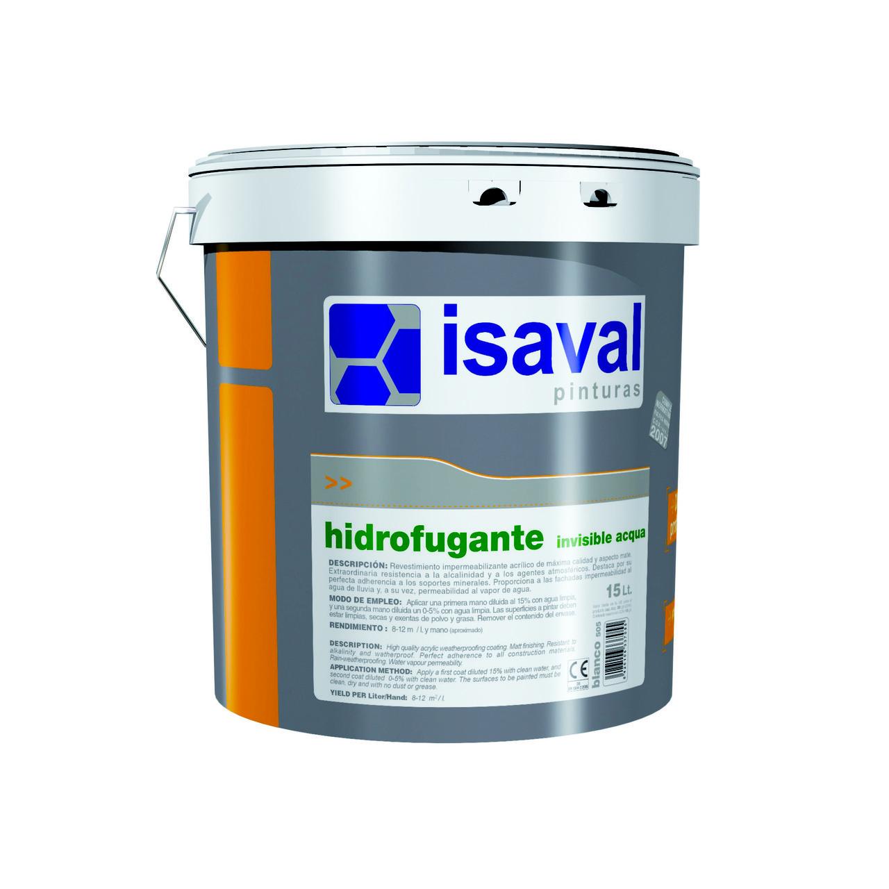 Фасадна водовідштовхувальна просочення ISAVAL Гидрофуганте Аква 4 л (невидима)