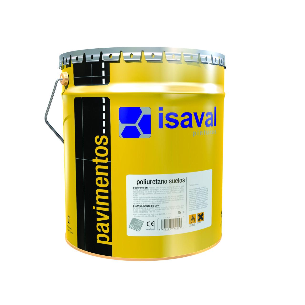 Фарба поліуретанова ISAVAL Дуэполь 16 л прозора база -для промислових бетонних підлог, паркінгів, гаражів