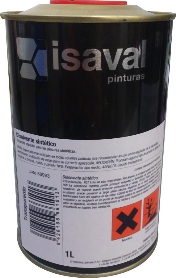 Універсальний синтетичний расворитель для розведення синтетичних і алкідних емалей 1л ISAVAL