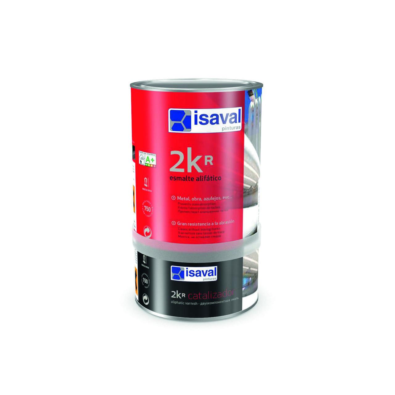 Прозрачная эмаль-лак для покраски множества различных поверхностей 2Кр 0,75л ISAVAL