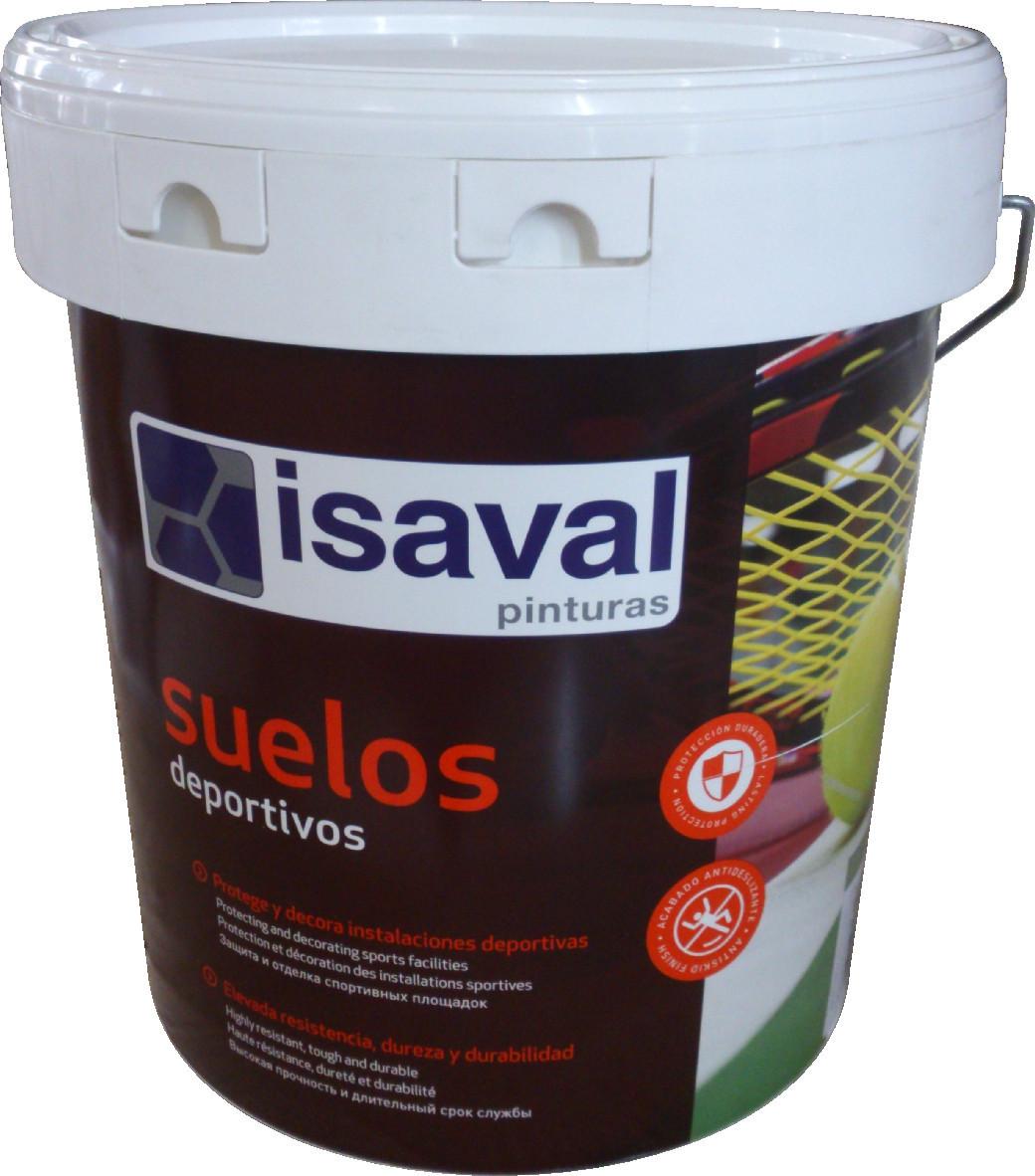 Спортивна фарба для спортивних майданчиків, тенісних кортів, зелена, червона 15л=150м2 isaval