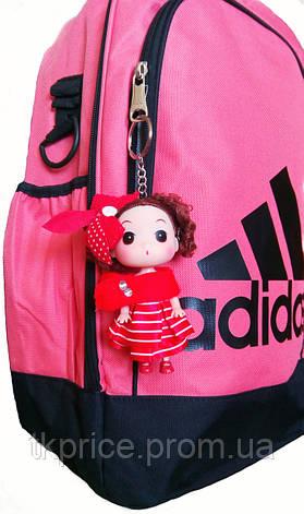 Кукла - брелок на сумку розовая, фото 2