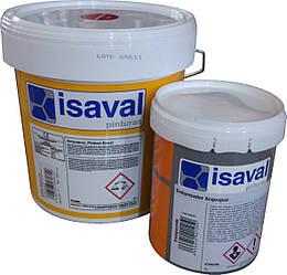 Эпоксидная краска для пола на водной основе, двухкомпонентная, серая 15л=150м2 isaval
