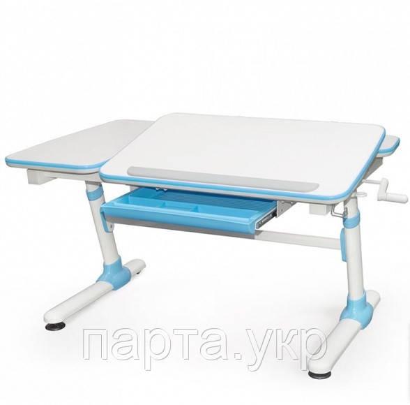 Регулируемый Письменный стол Evo 502, (голубой, розовый, серый) + лампа