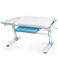 Регулируемый Письменный стол Evo 502, (голубой, розовый, серый) + лампа, фото 1