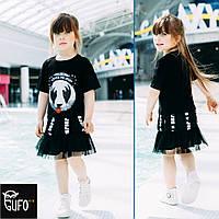Платье детское хлопковое с пандой JOJO
