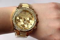 Часы МК-075 наручные женские золото с камнями