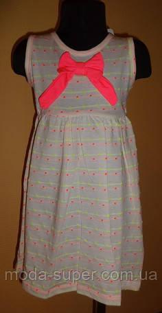 Платье без рукавов с бантиком