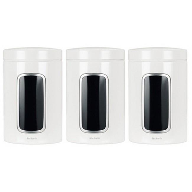 Набір контейнерів для зберігання сипучих продуктів з вікном 3 предмета, 1,4 л Brabantia 151224