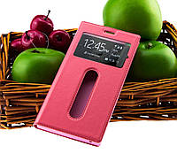 Чехол книжка для Lenovo A7000 K3 Note с окнами светло розовый
