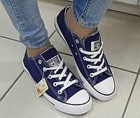 Женские Кеды Сonverse, низкие, цвет-синий