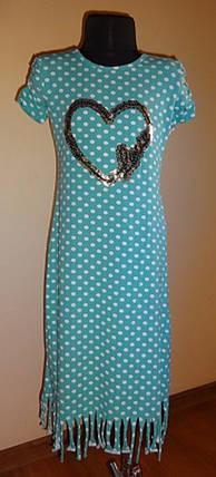 Зеленое платье в горох с пайетками, фото 2