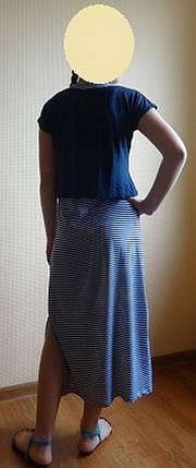 Платье-майка с синей накидкой, фото 2
