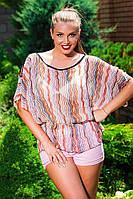Летняя женская блуза. Шифон,два цвета. Размер:M 48-50, L 50-52,XL 52-54,XXL 54-56 , фото 1