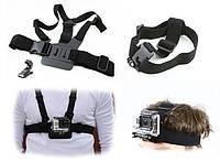 Набор 2 в 1: портупея + крепление на голову для GoPro HERO 4 3+ 3 2 1