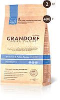 Grandorf White fish & Potato ADULT SENSITIVE 33/16 - белая рыба для взрослых кошек 0,4кг