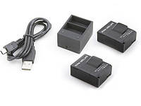 Аккумуляторы + USB Зарядное устройство для GoPro HERO 3 3+