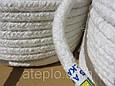 Термоизоляционный шнур «Керамический шнур» 20х20 мм. Уплотнитель дверцы котла (+1100°С), фото 5