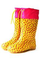 Детские резиновые сапоги Alisa Line yellow-pink