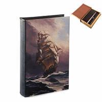 Шкатулка книга-сейф корабль и шторм
