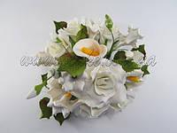 Букет: розы + калла, Ø 190 мм (разные цвета), фото 1