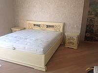 Спальня Камелия ЮрВит (комплект) кровать 1.6(одна ковка)