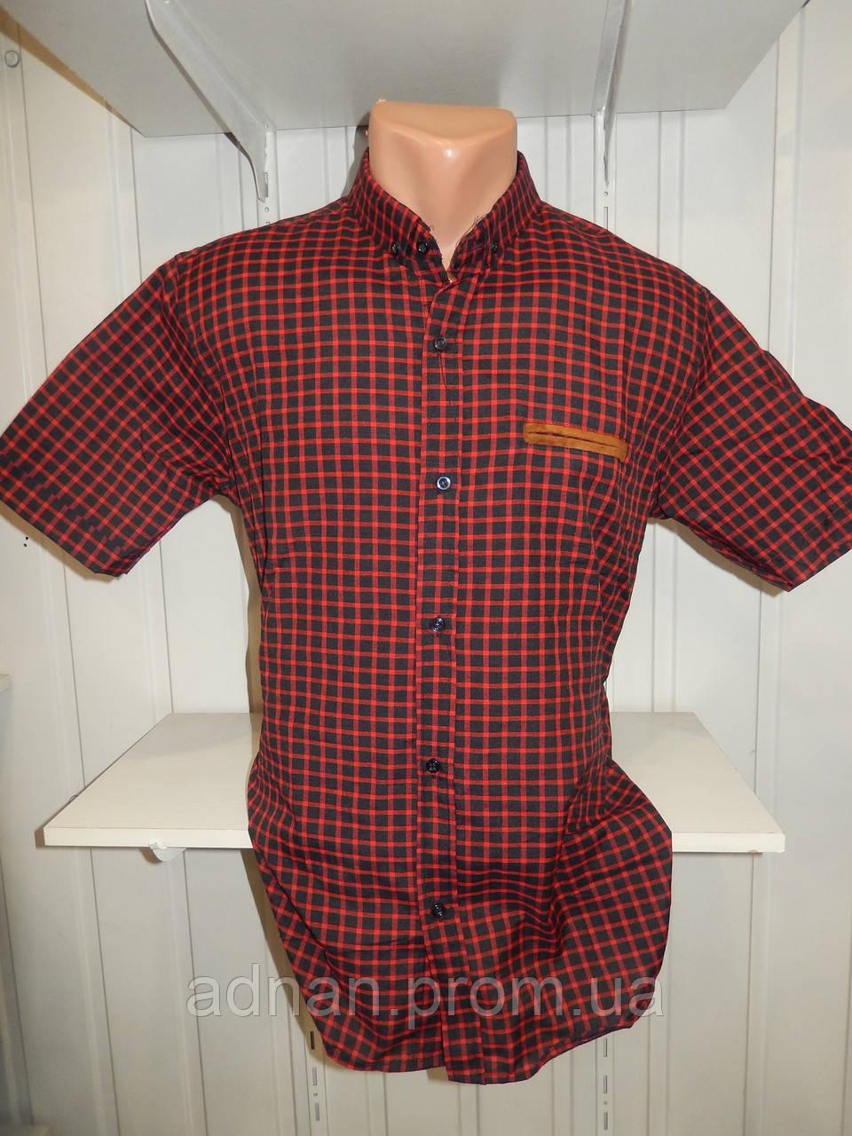 Сорочка чоловіча CORM короткий рукав, напів батал середня клітина 003 \ купити сорочку Склад 7 км