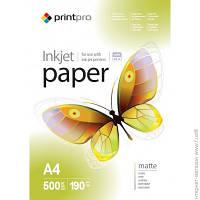 Бумага Printpro 190г/м², A4, 500л, матовая (PME190500A4)