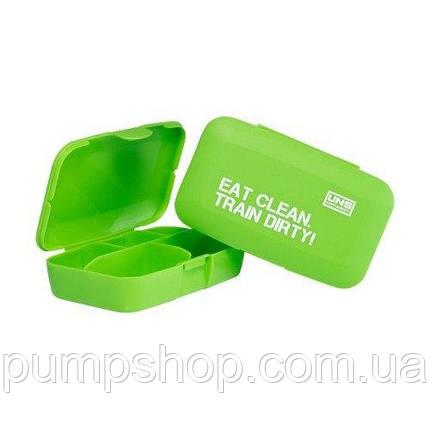 UNS Pill-box Таблетница Eat clean. Train dirty! зеленая, фото 2