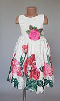 Платье для девочек с розами