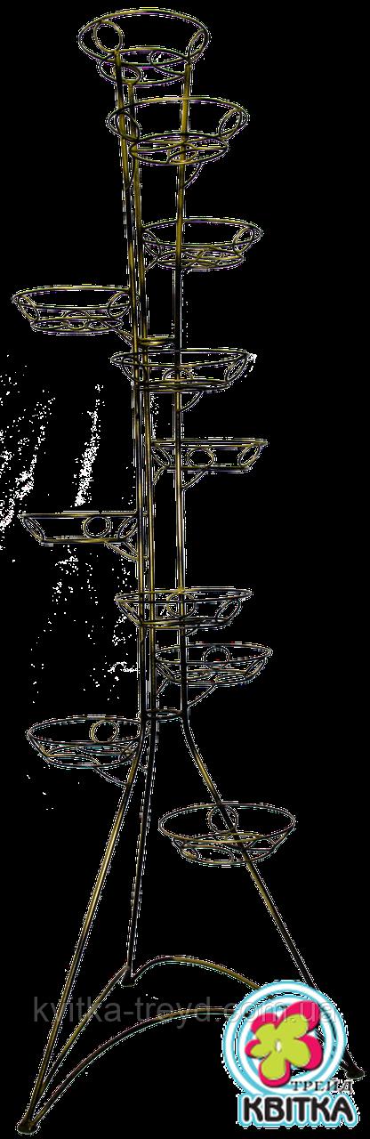 Кованая подставка для цветов Башня 11