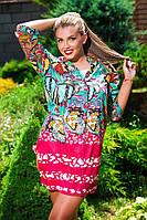 Летняя женская туника платье.Два цвета. Размер: M(48-50),L(50-52),XL(52-54),XXL(54-, фото 1