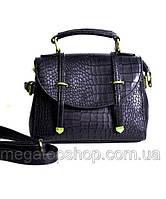 Брендовая маленькая женская сумка черного цвета