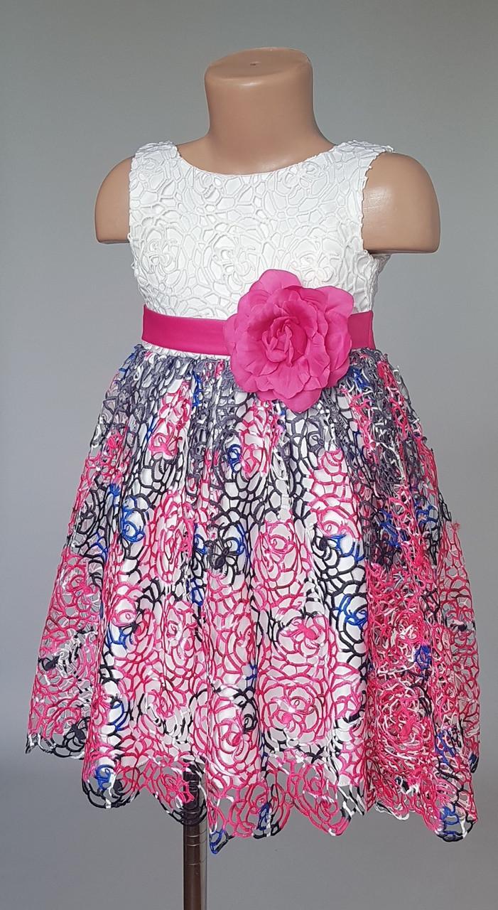 Платье красочное детское с розами