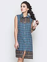 Женское платье-рубашка на пуговицах 90236