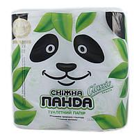Туалетний папір Сніжна панда 2шари 4шт Біла (4823019007619)