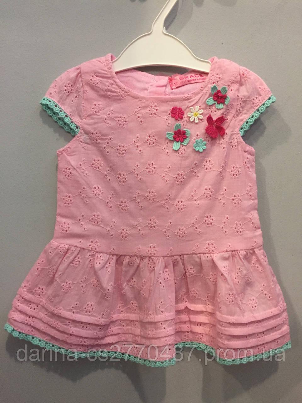 Хлопковое платье для девочки 74,86 см