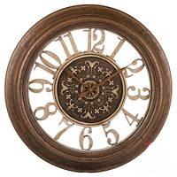 Круглые настенные коричневые часы