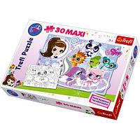 Пазлы 14409  Trefl,макси,контур,Hasbro,Маленький зоомагазин,30дет,двухстор,в коробке40-27-6см
