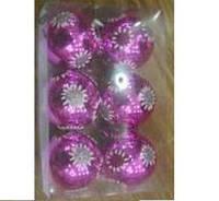 Ёлочные шарики 8201, 6 шт. (Y)