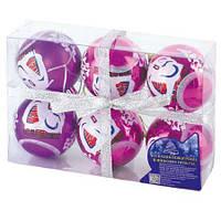 Ёлочные шарики 02283, 6 шт. (Y)