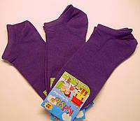 Летние короткие детские носки фиолетового цвета