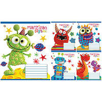 "Тетрадь 12 листов/клетка 793905 ""Marzipan funny monsters"", 25 шт. в упаковке (Y)"