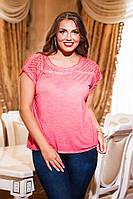 Женская стильная летняя футболка варка. Размеры: M(46-48),L(48-50),XL(50-52),XXL(52-54), фото 1