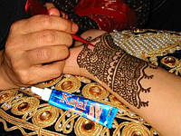 Индийская хна для био татту росписи по телу  тату  мехенди в тюбике Kajal